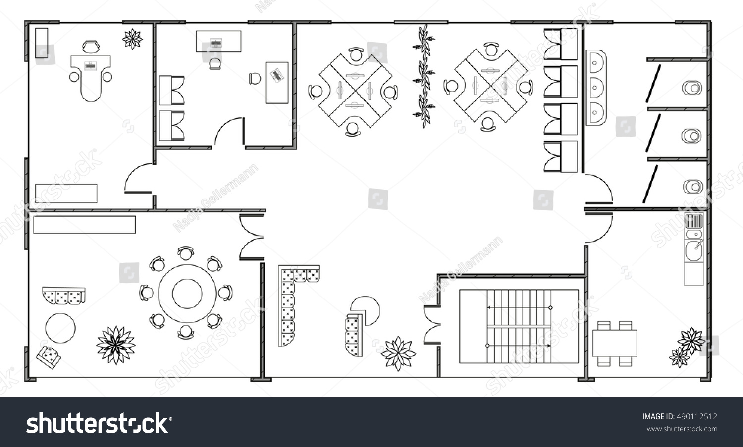 office plan interiors. Office Plan Interiors. Architecture With A Modern Furniture In Top View. Interiors Small
