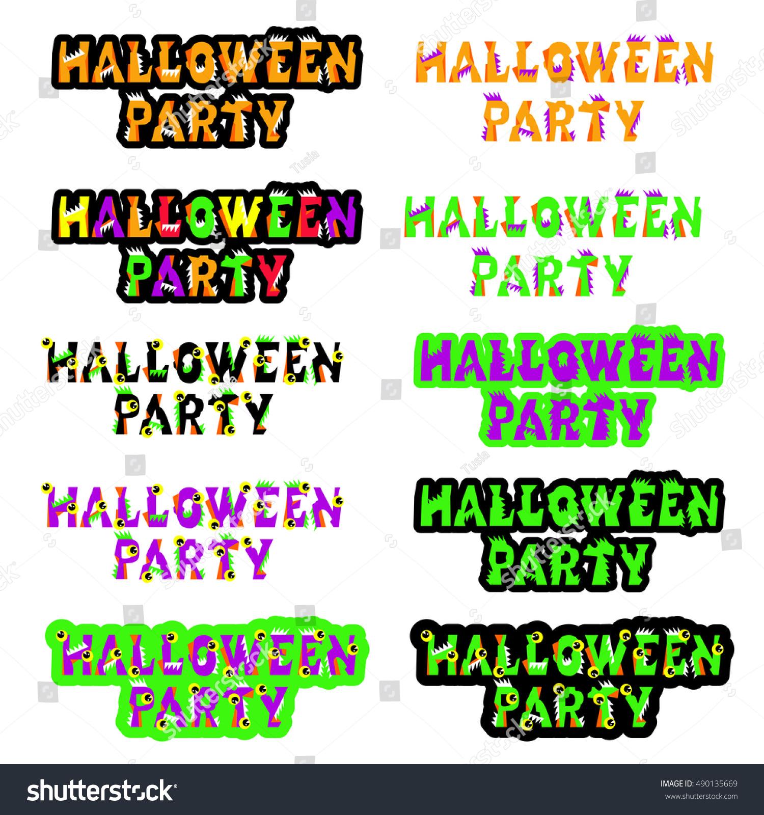 Halloween Sign Holiday Greetings Original Print Stock Vector ...
