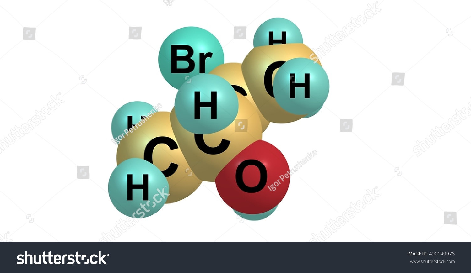 2 S 3 R 3 Bromobutan 2 Ol Chemical Compound Isolated On White Stock