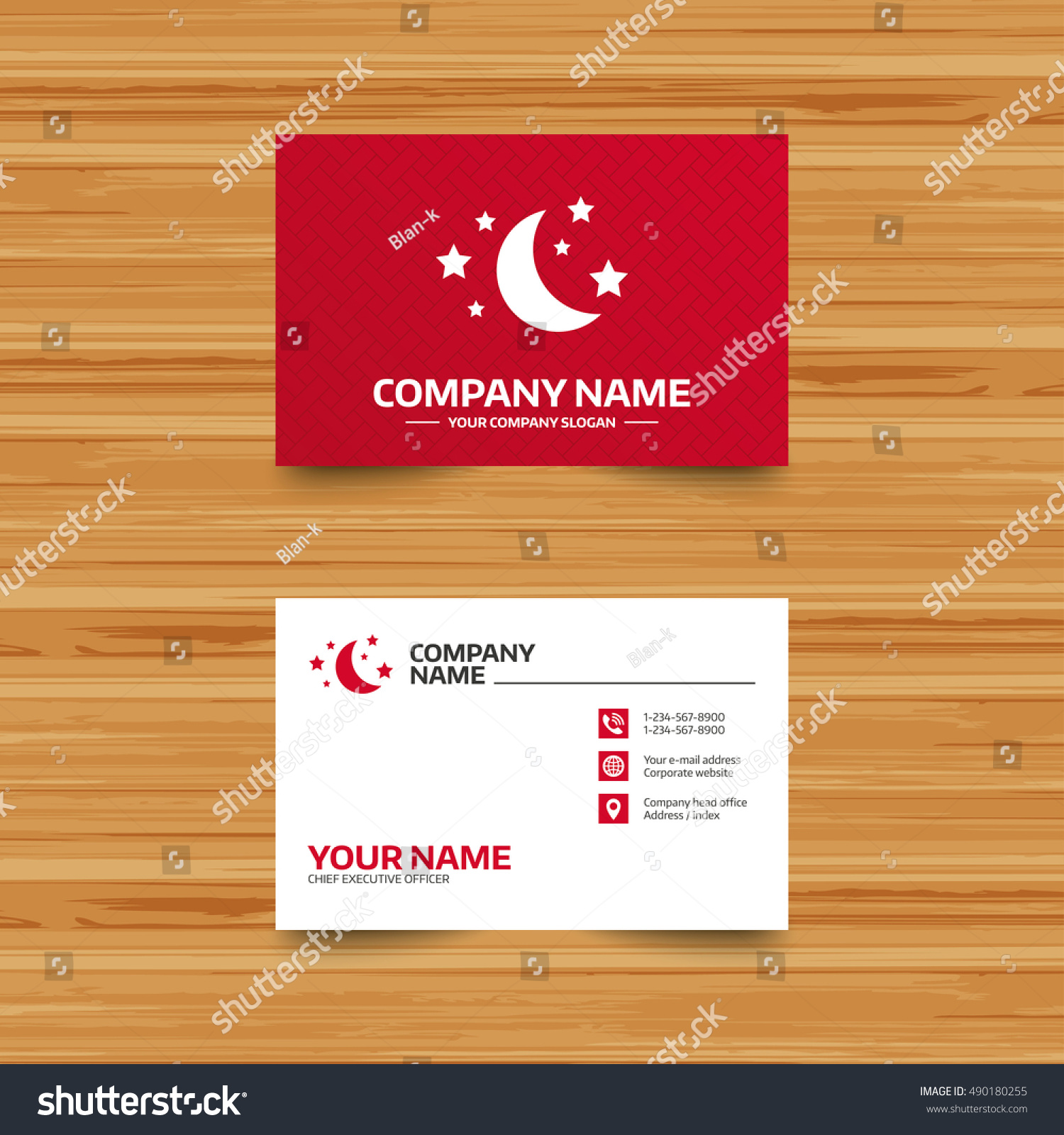 Business card template moon stars icon stock photo photo vector business card template moon and stars icon sleep dreams symbol night or bed colourmoves