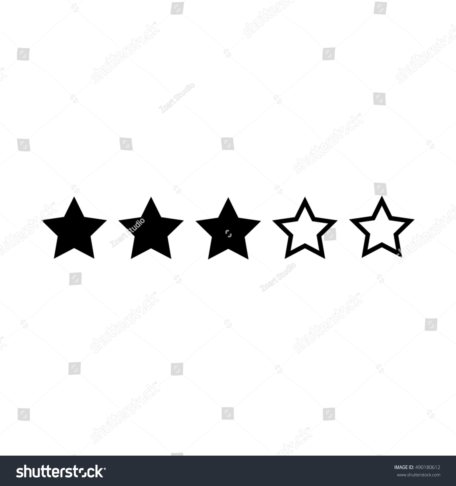 Three Star Hotel Business Concept Vector Stock Vector Royalty Free