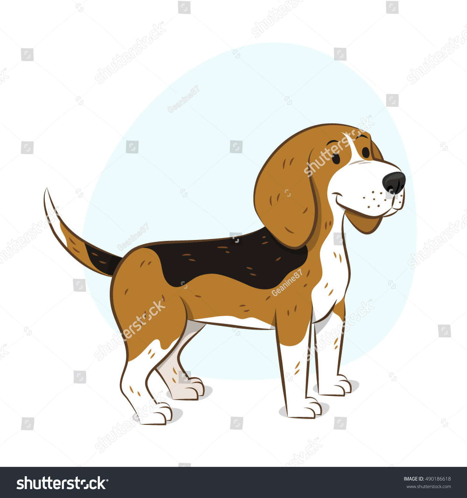 Encantador Beagle Para Colorear Imprimible Ilustración - Dibujos ...