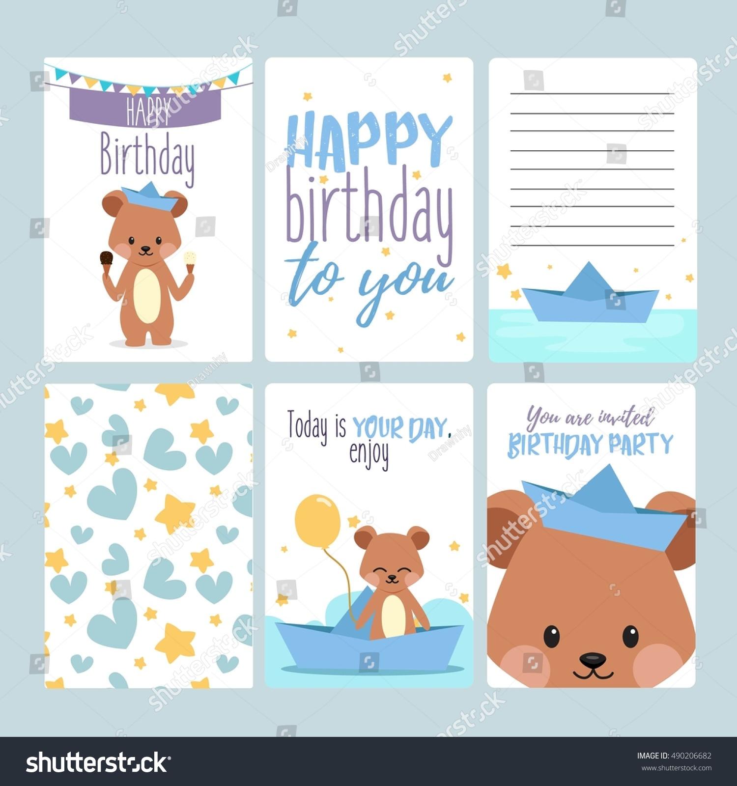 Happy Birthday Card Baby Boy Stock Vector Shutterstock