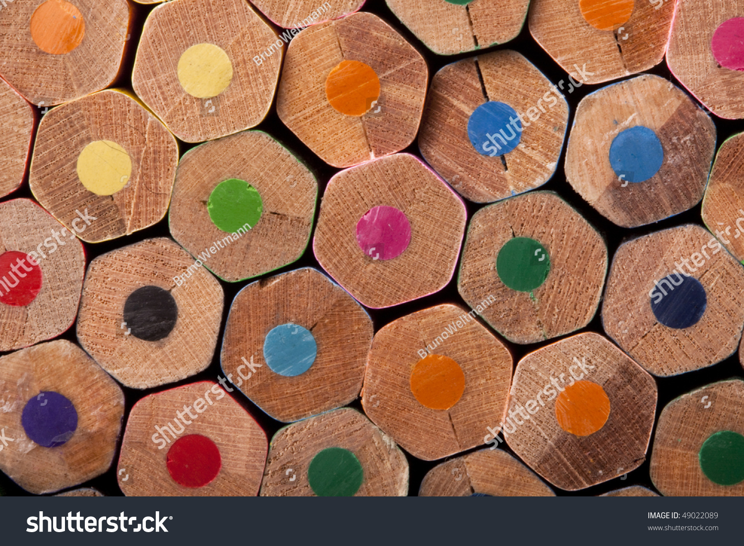 Colored Pencils Texture Pattern Background Stock Photo ...
