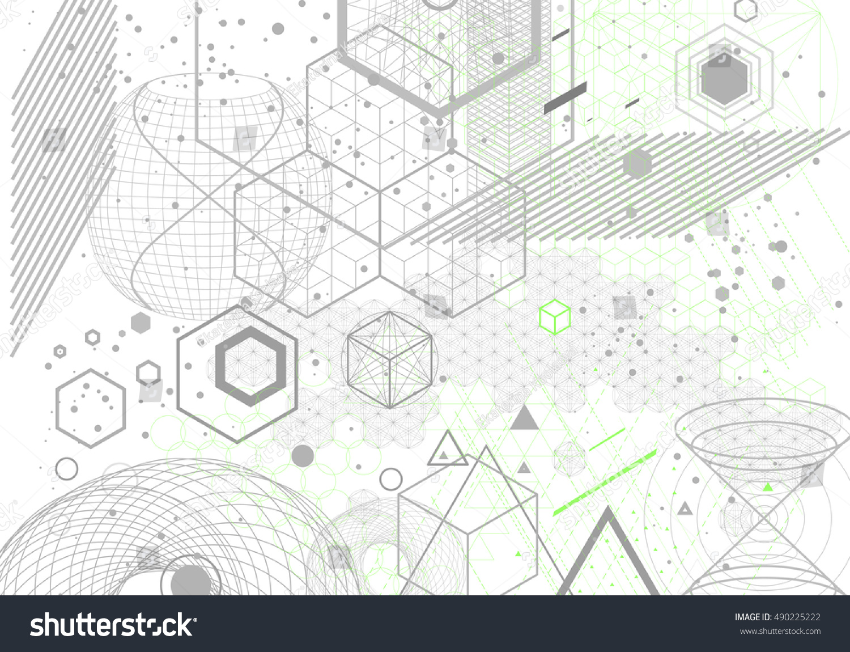 Sacred geometry symbols elements background cosmic stock vector sacred geometry symbols and elements background cosmic universe big bang alchemy biocorpaavc