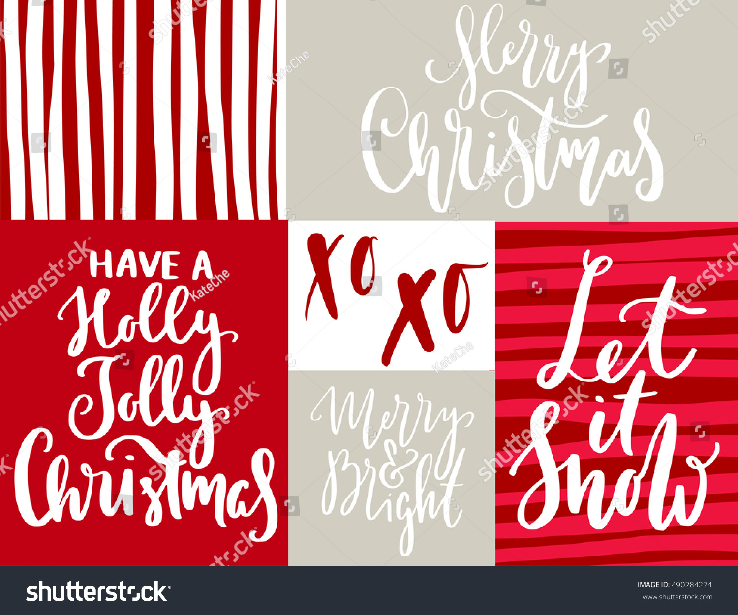 Christmas Quotes Sayings Postcards Poster Banner Stock Vector ...
