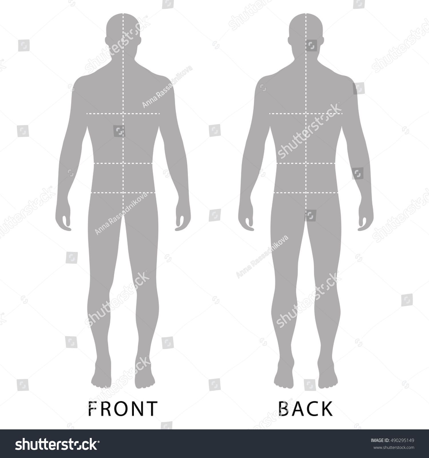 Fashion Mans Solid Template Figure Silhouette Stock Photo (Photo ...