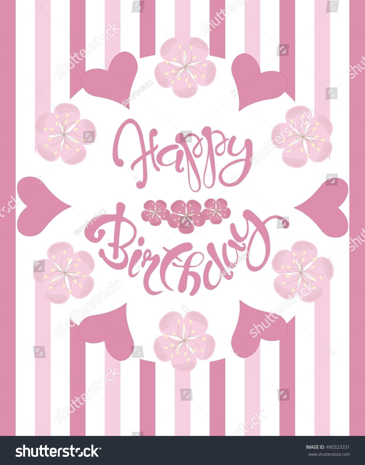 beautiful vintage floral happy birthday congratulation