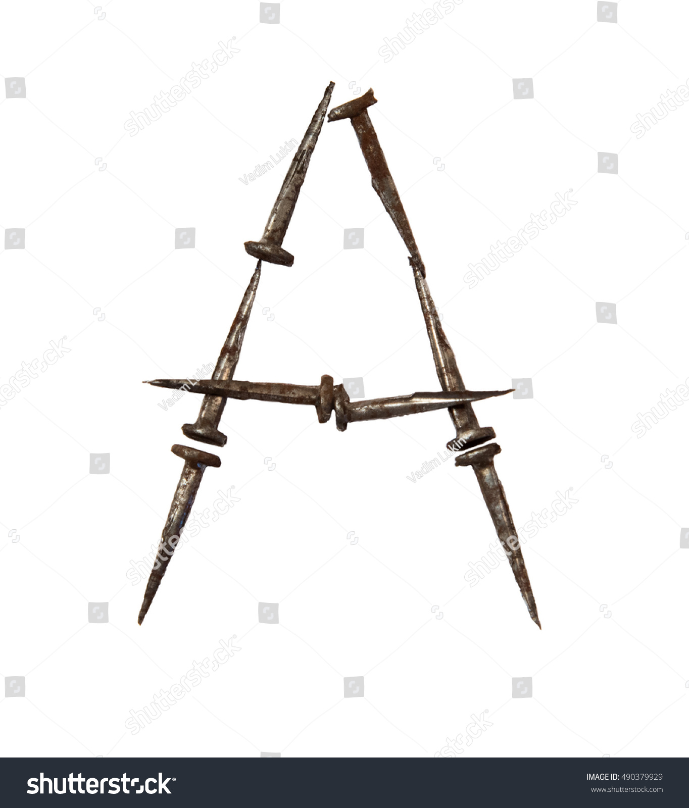 Death nails font symbols made old stock photo 490379929 shutterstock symbols made from old rusty nails isolated on white a biocorpaavc
