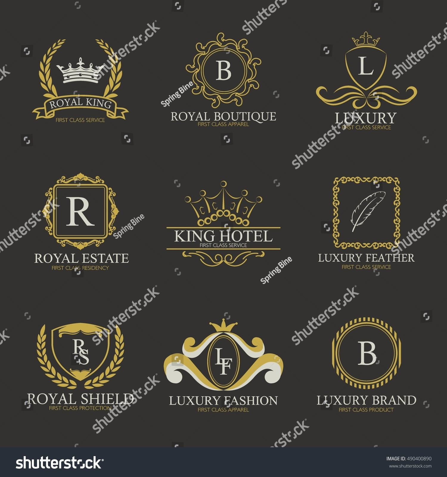 Luxury Logo Collectiondesign Boutique Hotelresortrestaurant Royalty Stock Vector Royalty Free 490400890