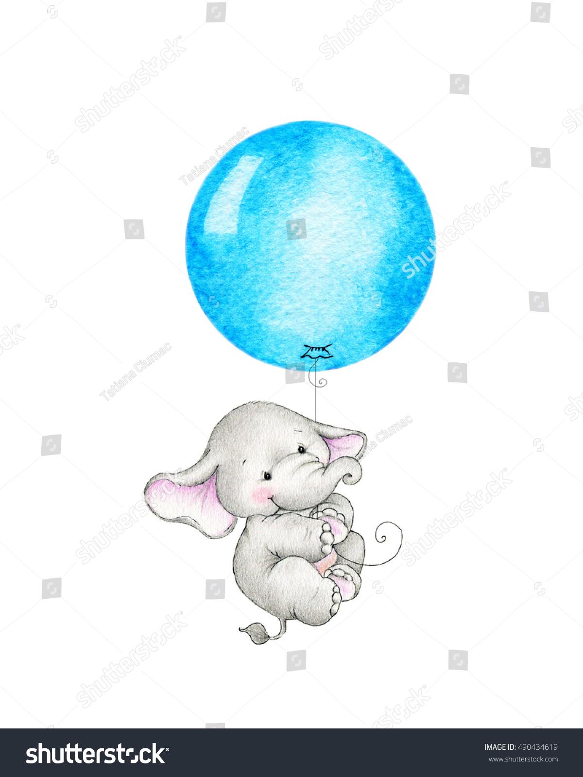 elefant mit luftballon zum ausmalen  malvorlagen