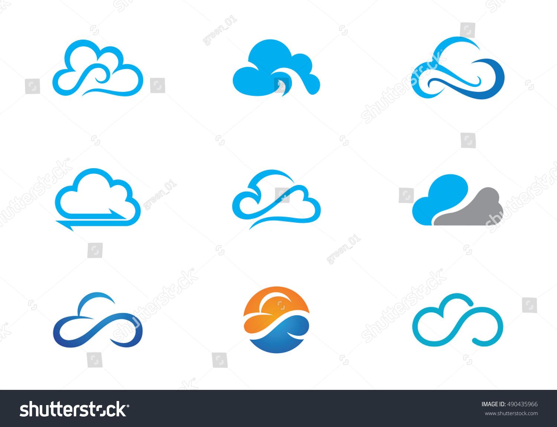 cloud logo template stock vector royalty free 490435966 shutterstock