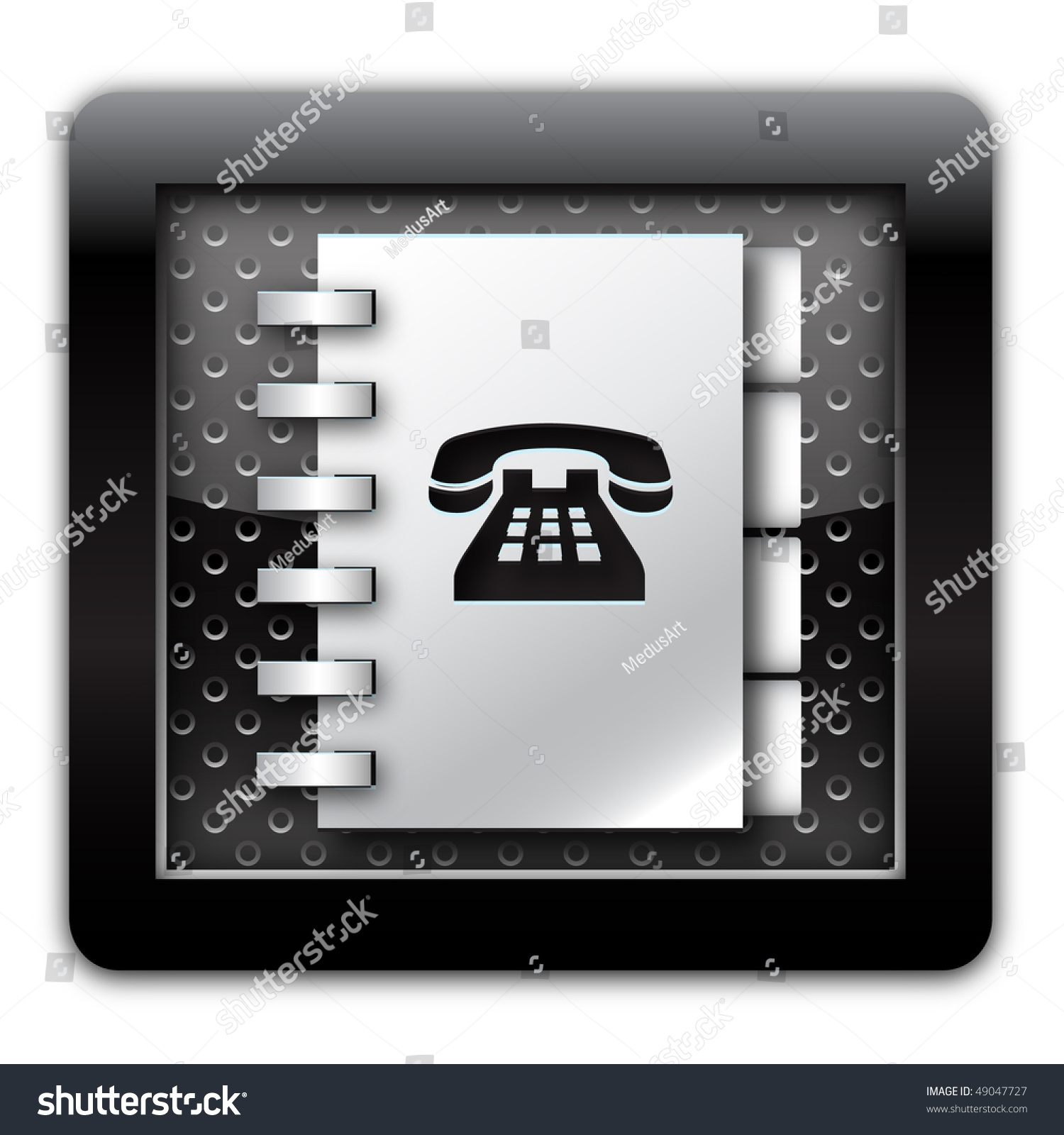 Address Book Icon Black