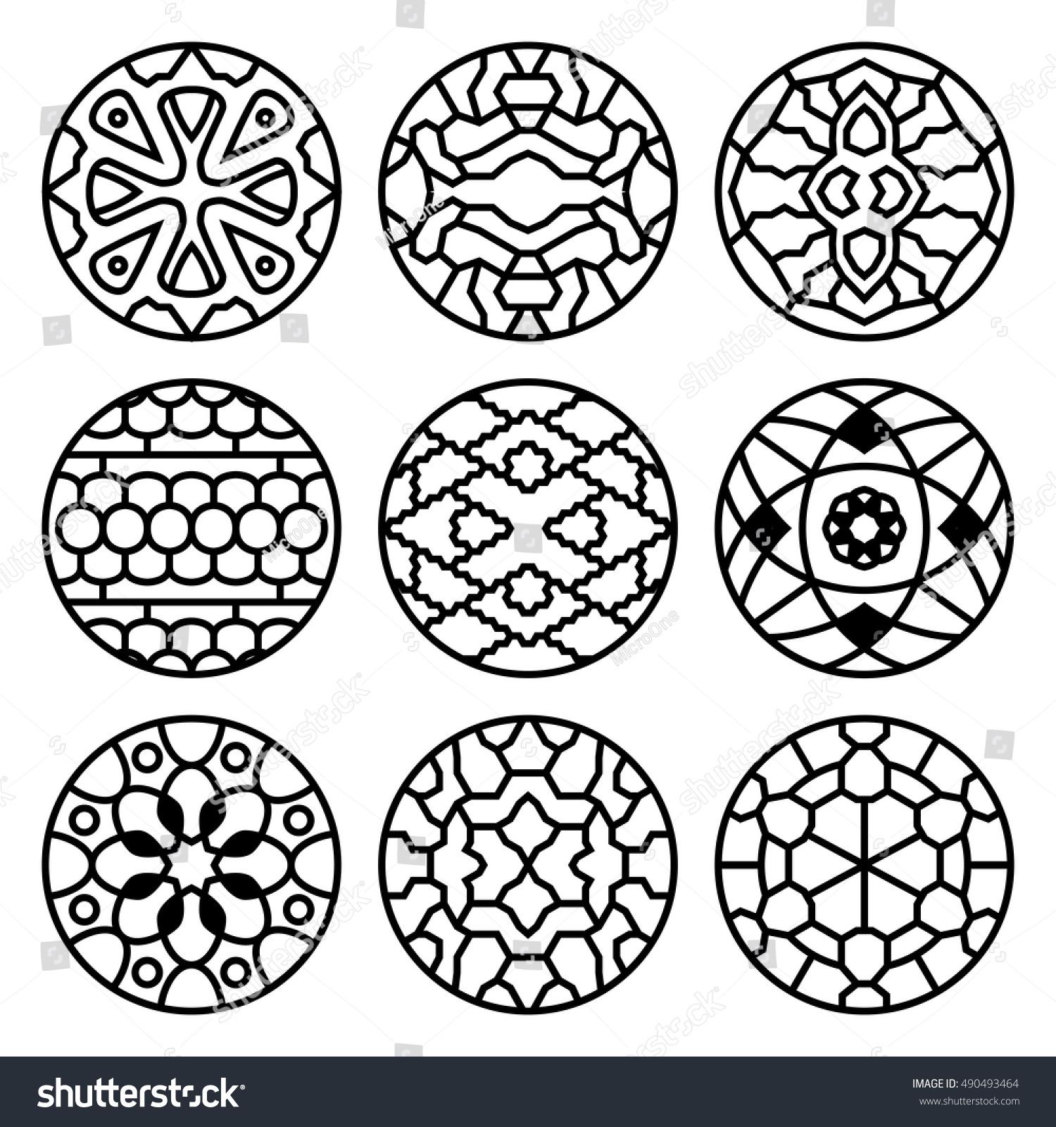 Korean traditional vector ancient buddhist patterns stock vector korean traditional vector ancient buddhist patterns ornaments and symbols tattoo oriental decorative illustration biocorpaavc Images