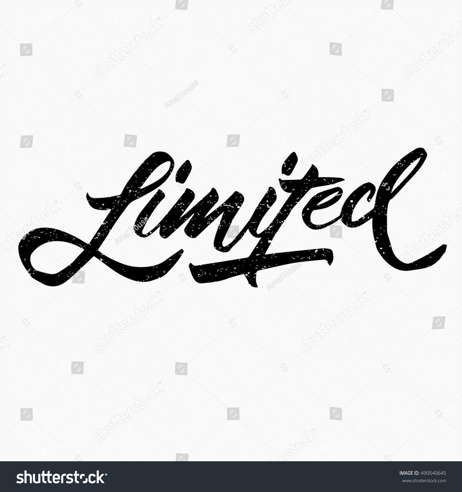 Limited ink hand lettering modern brush stock vector