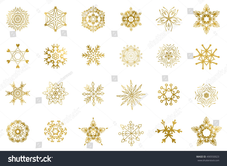 Golden snowflake vector