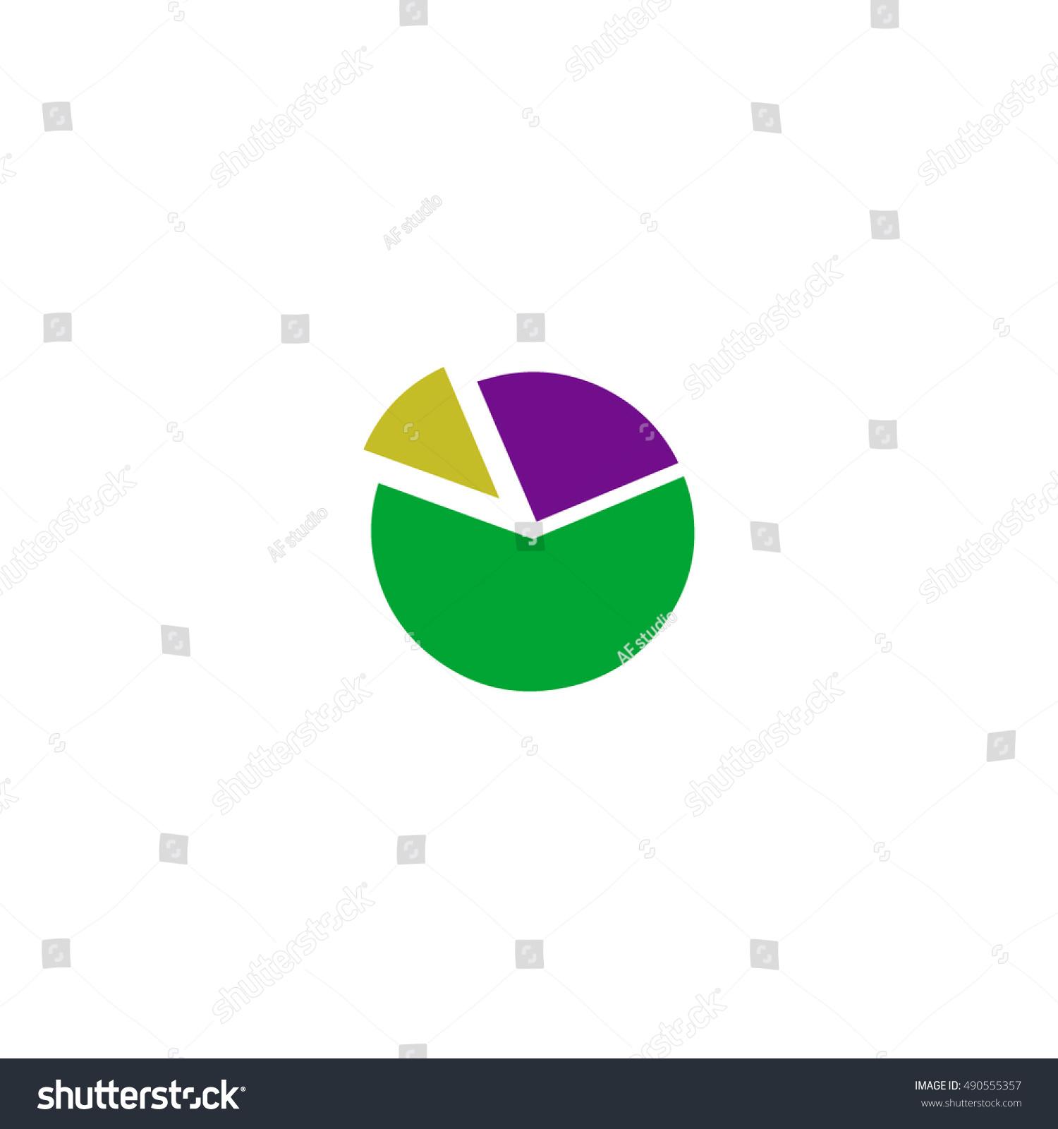 Diagram Icon Vector Flat Simple Color Stock Vector 490555357