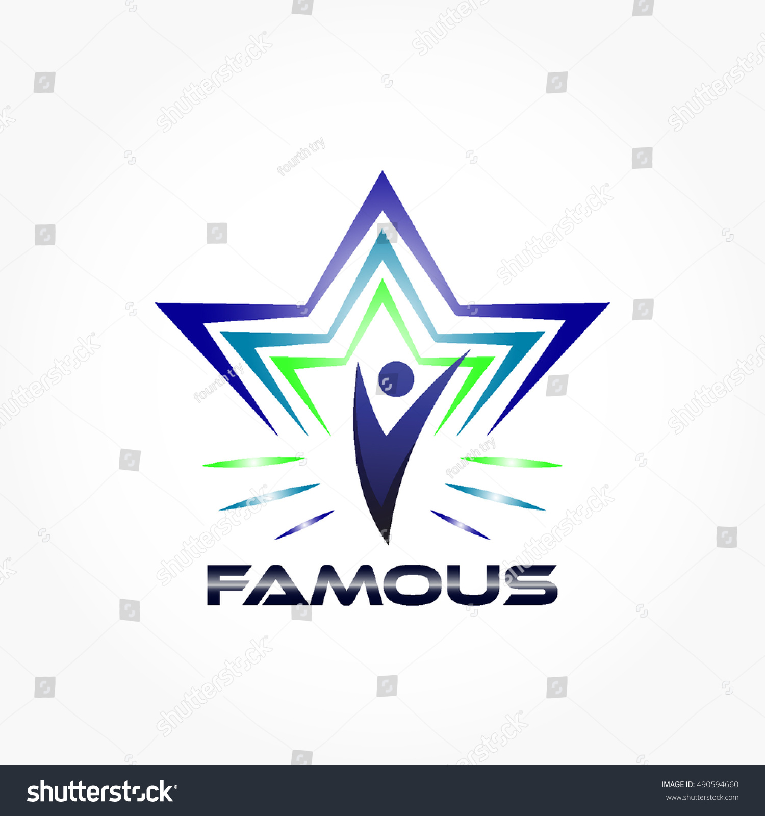 Famous Abstract Line Art : Famous logo concept some abstract lines stock vector