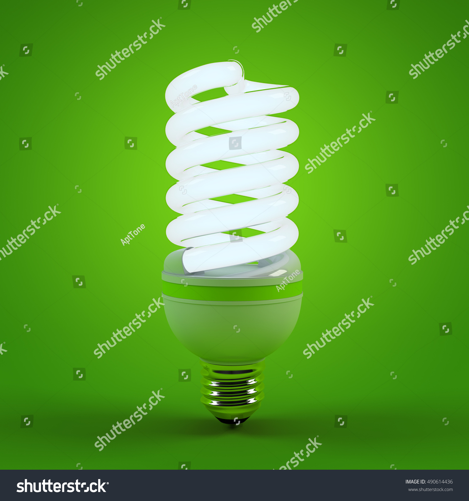 Ecology environment and saving energy  fluorescent light bulb concept of  successful business  Energy saving. Ecology Environment Saving Energy Fluorescent Light Stock
