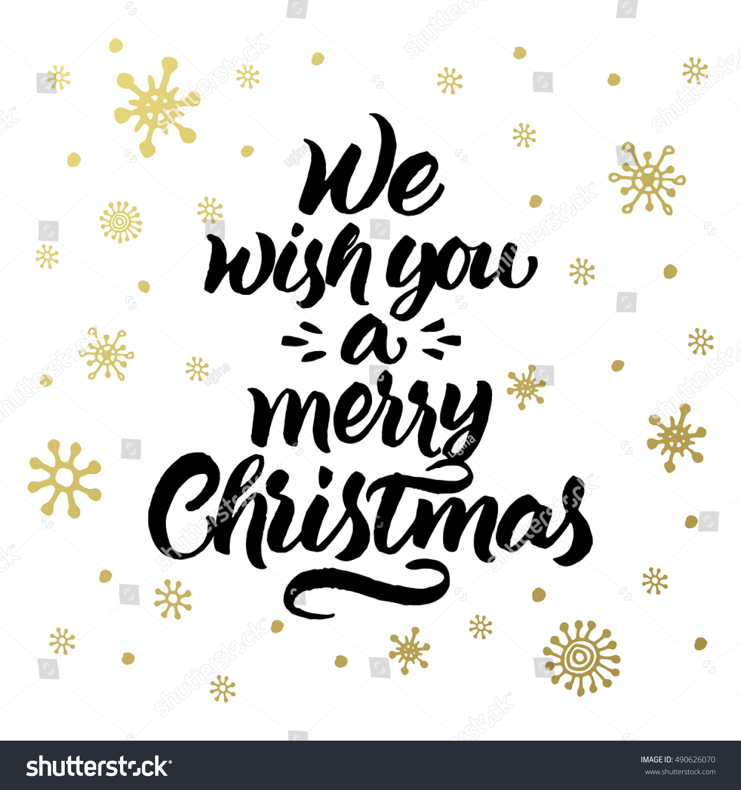 We Wish You Merry Christmas Greeting Stock Vector Royalty Free