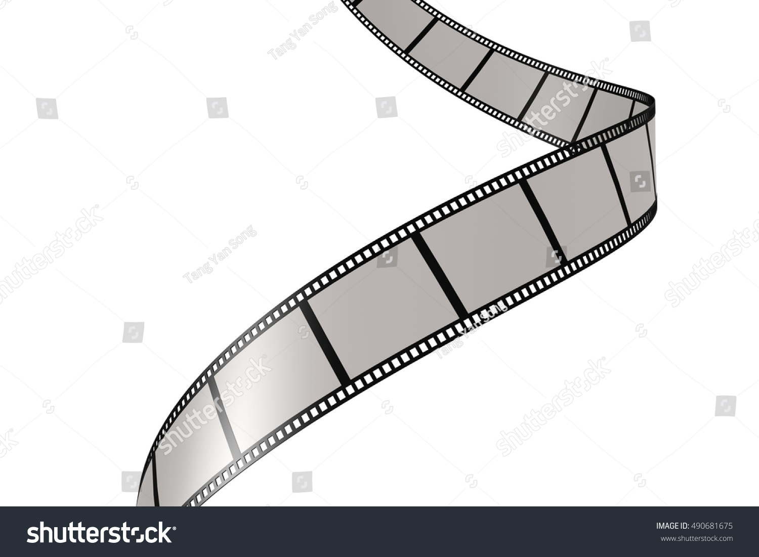 Isolated film with white background 3D rendering