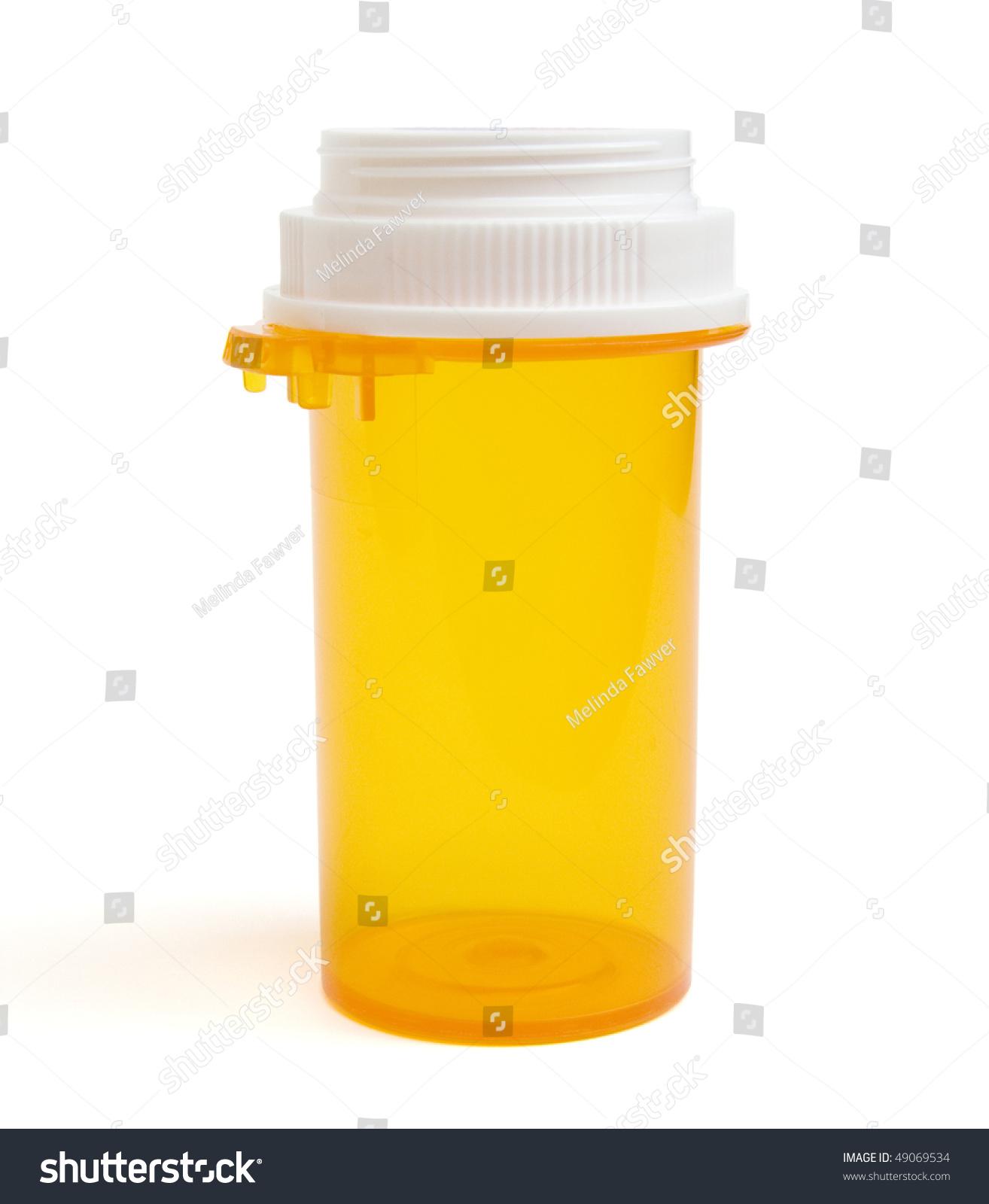 Empty prescription pill bottle stock photo 49069534 for What to do with empty prescription bottles