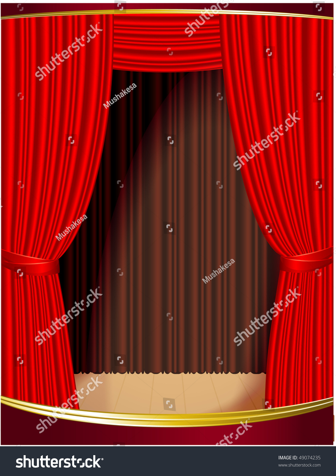 Blue stage curtains blue stage curtain vector free vector in - Red Stage Curtain Vector