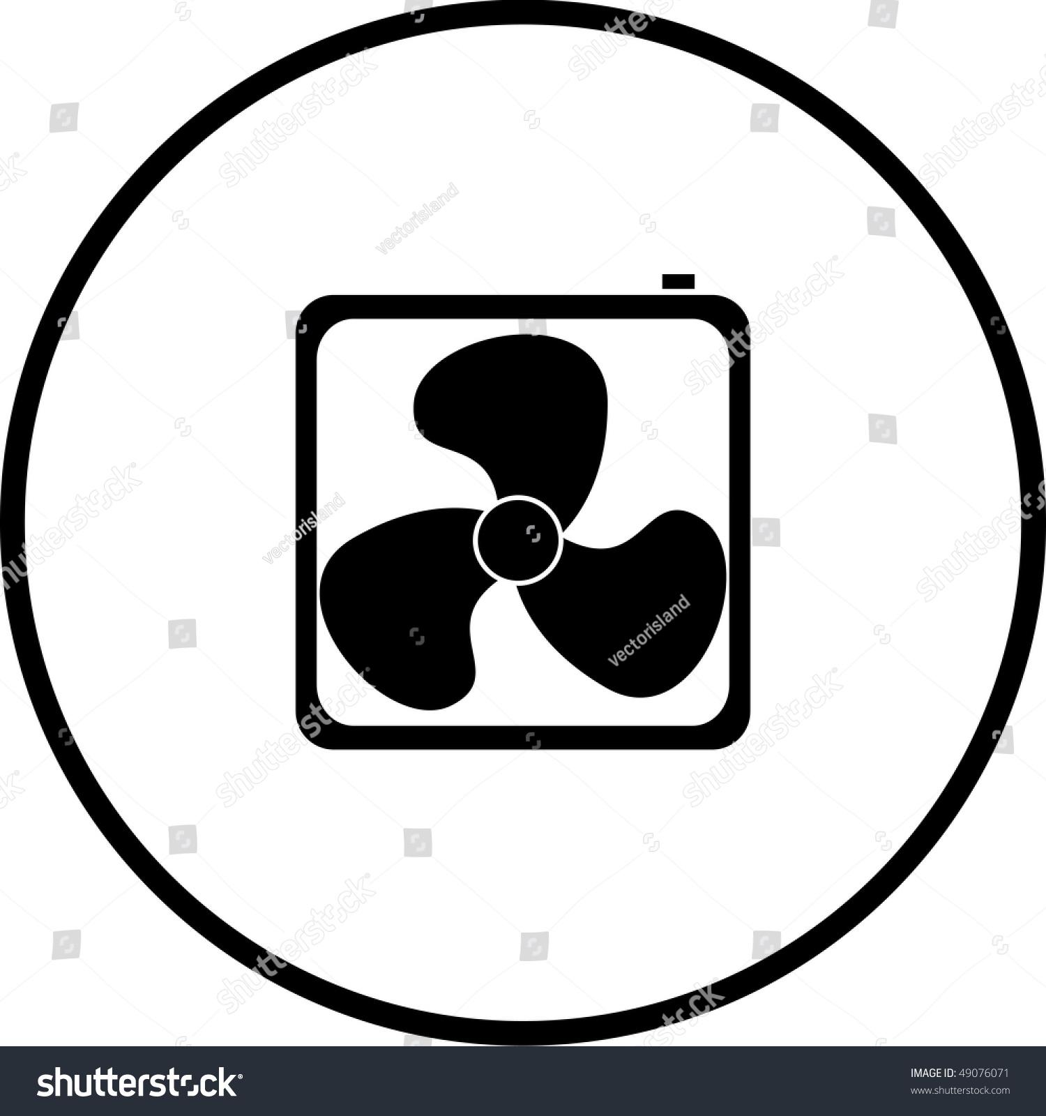 Exhaust Fan Symbol : Square fan symbol stock illustration shutterstock