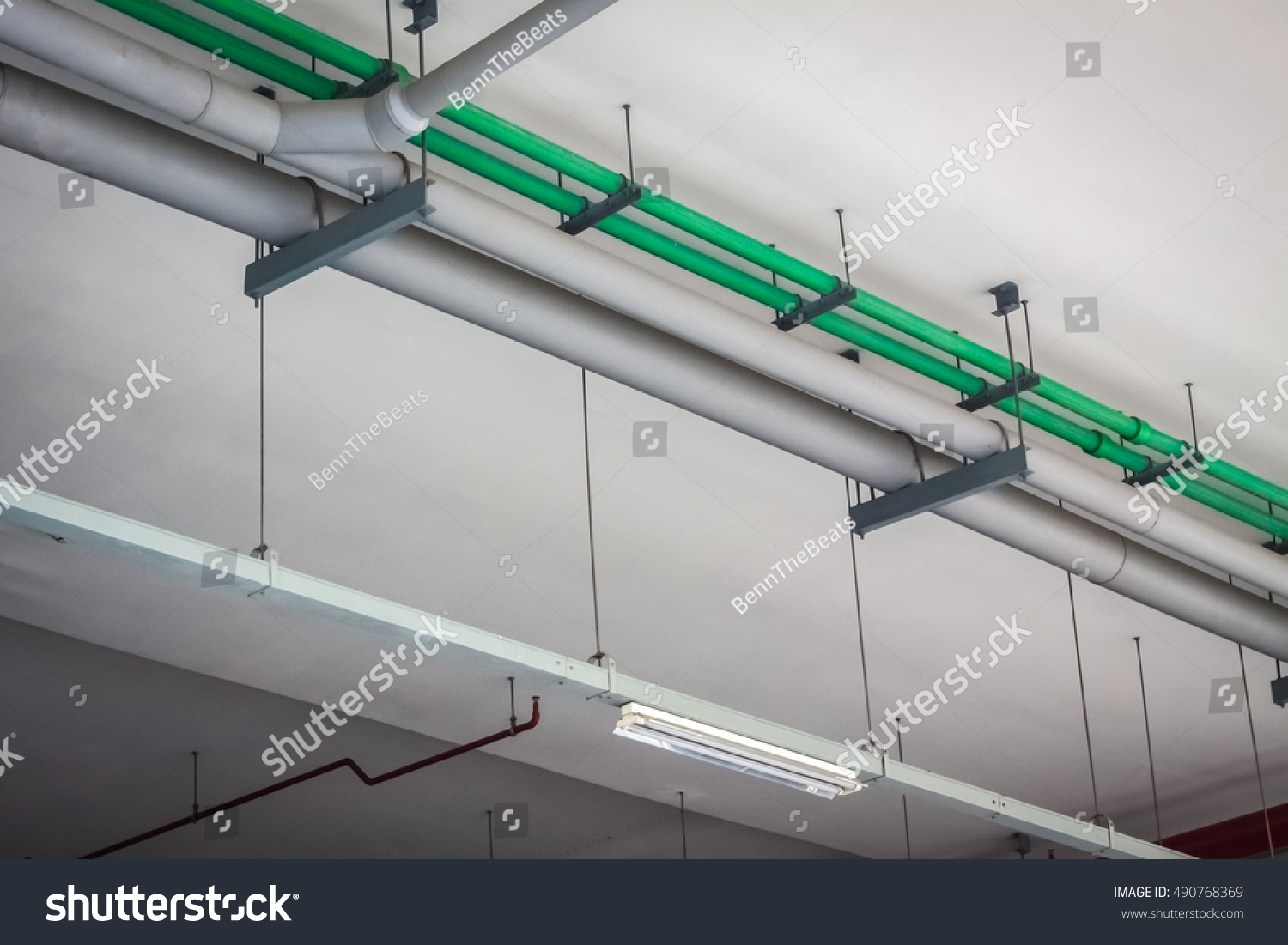 Electric System Industrial Steel Electric System Stock Photo ...