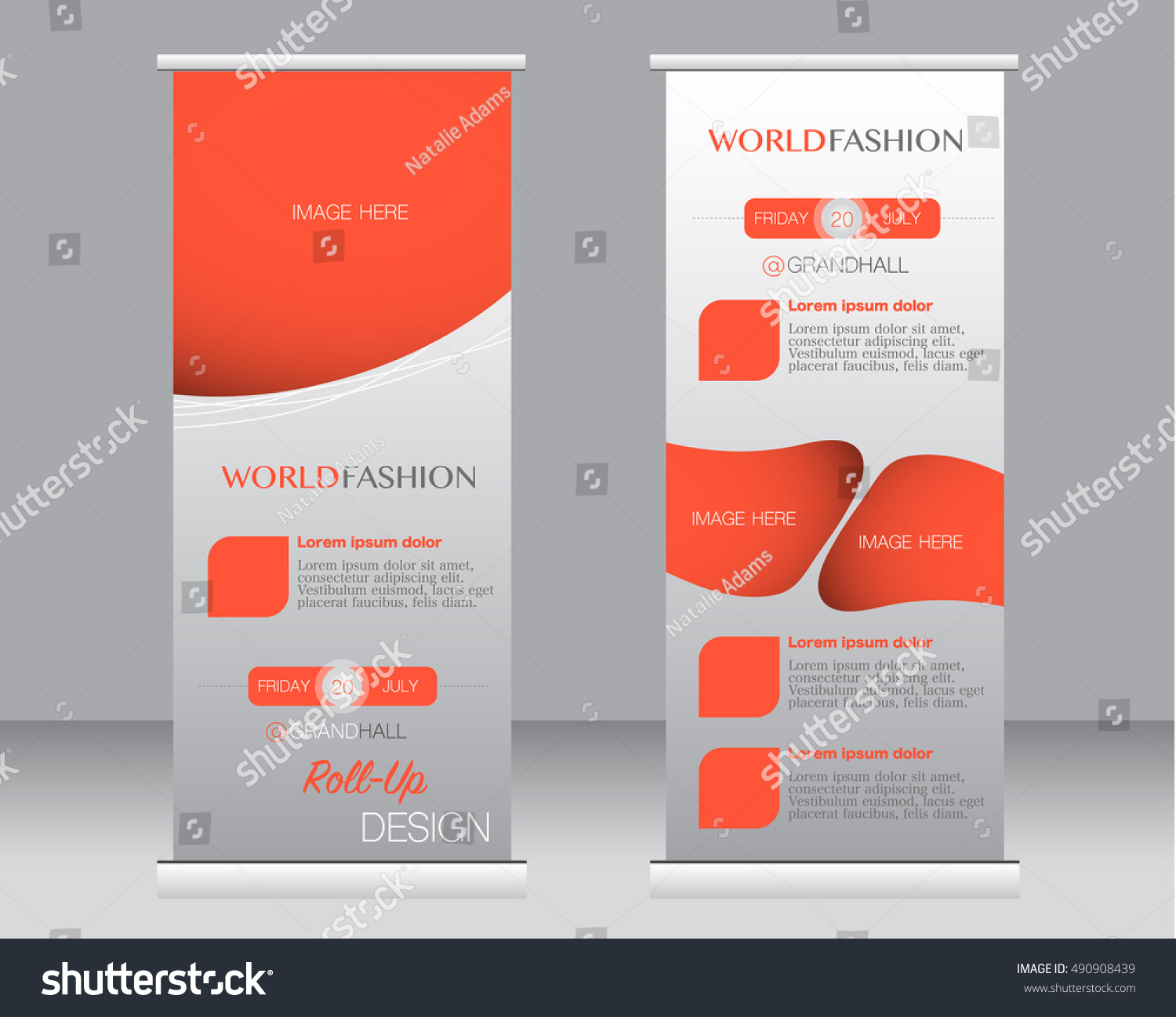 roll banner stand template abstract background stock vector roll up banner stand template abstract background for design business education advertisement