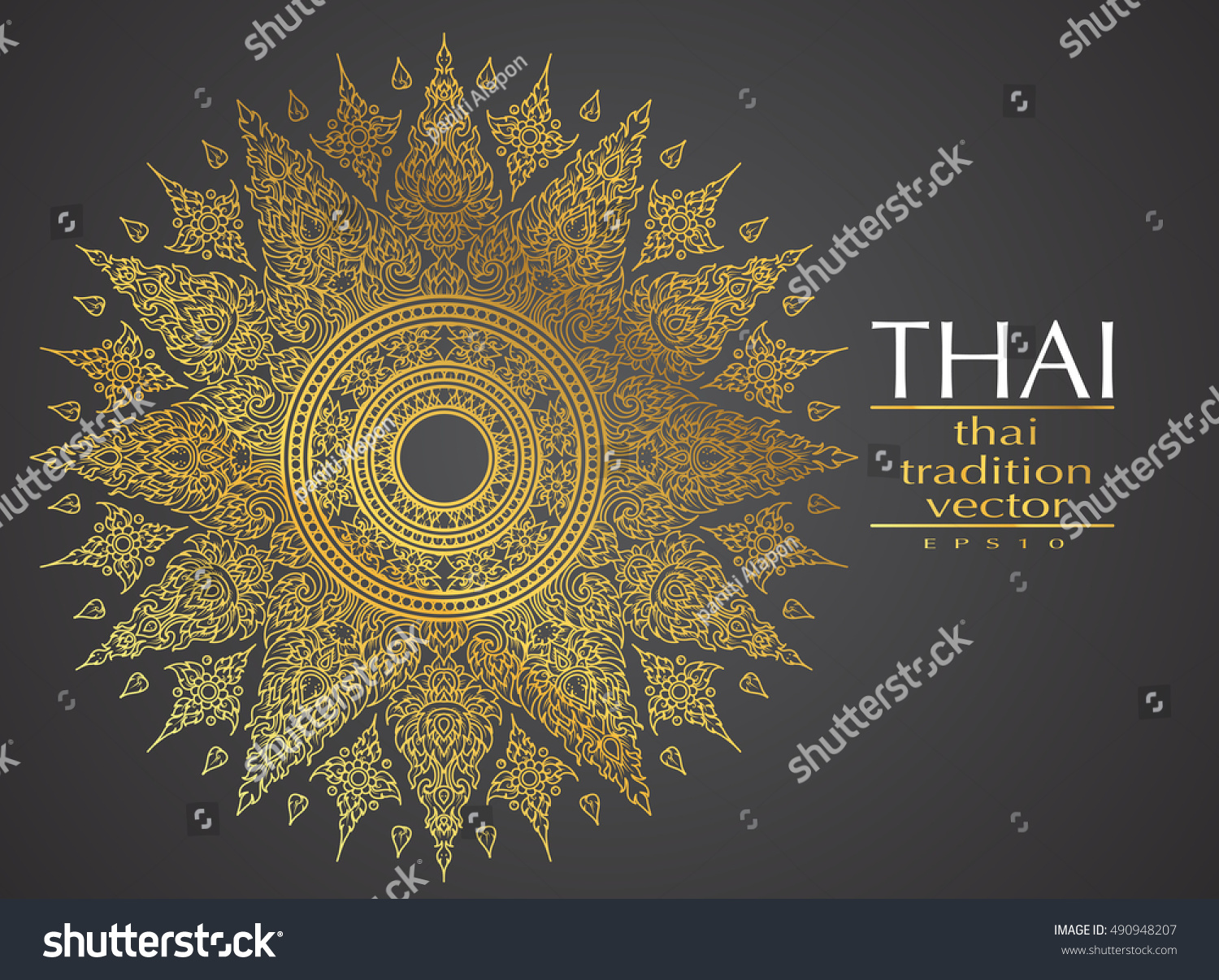 Thai art element traditional gold greeting stock photo photo thai art element traditional gold for greeting cards m4hsunfo