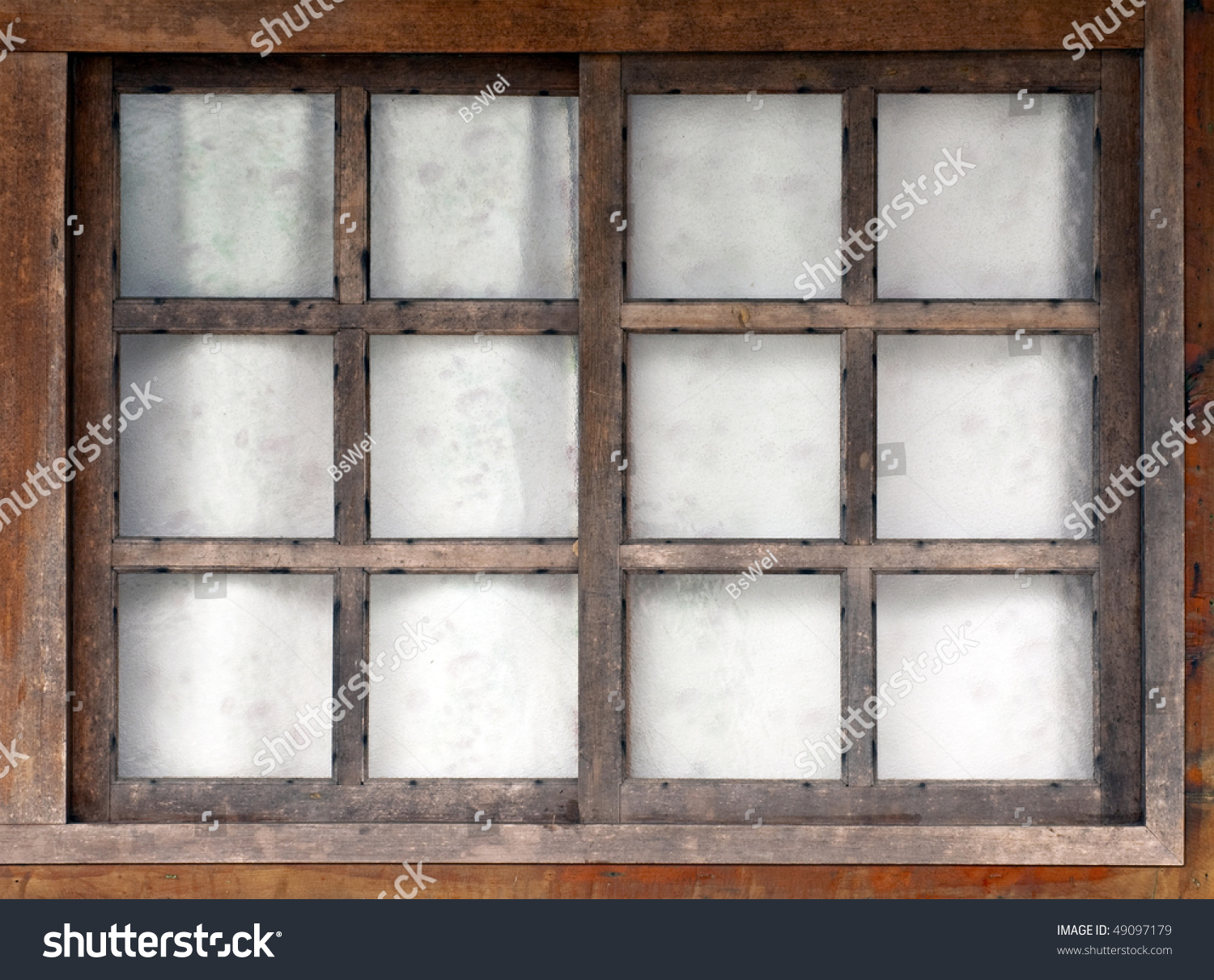 Old Wooden Window White Background Stock Photo 49097179 Shutterstock