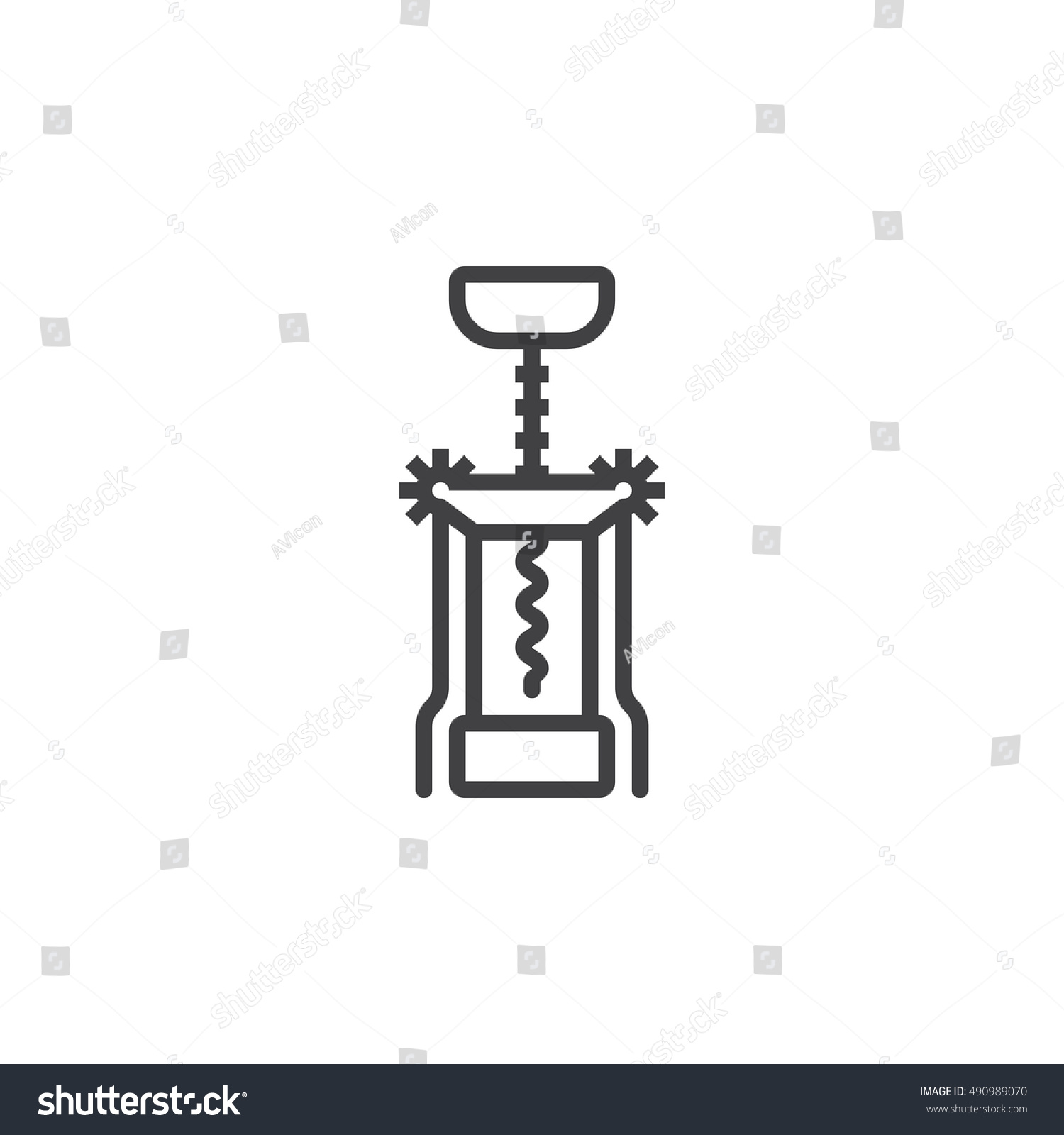 corkscrew line icon, bottle opener outline vector sign, linear pictogram  isolated on white  logo illustration