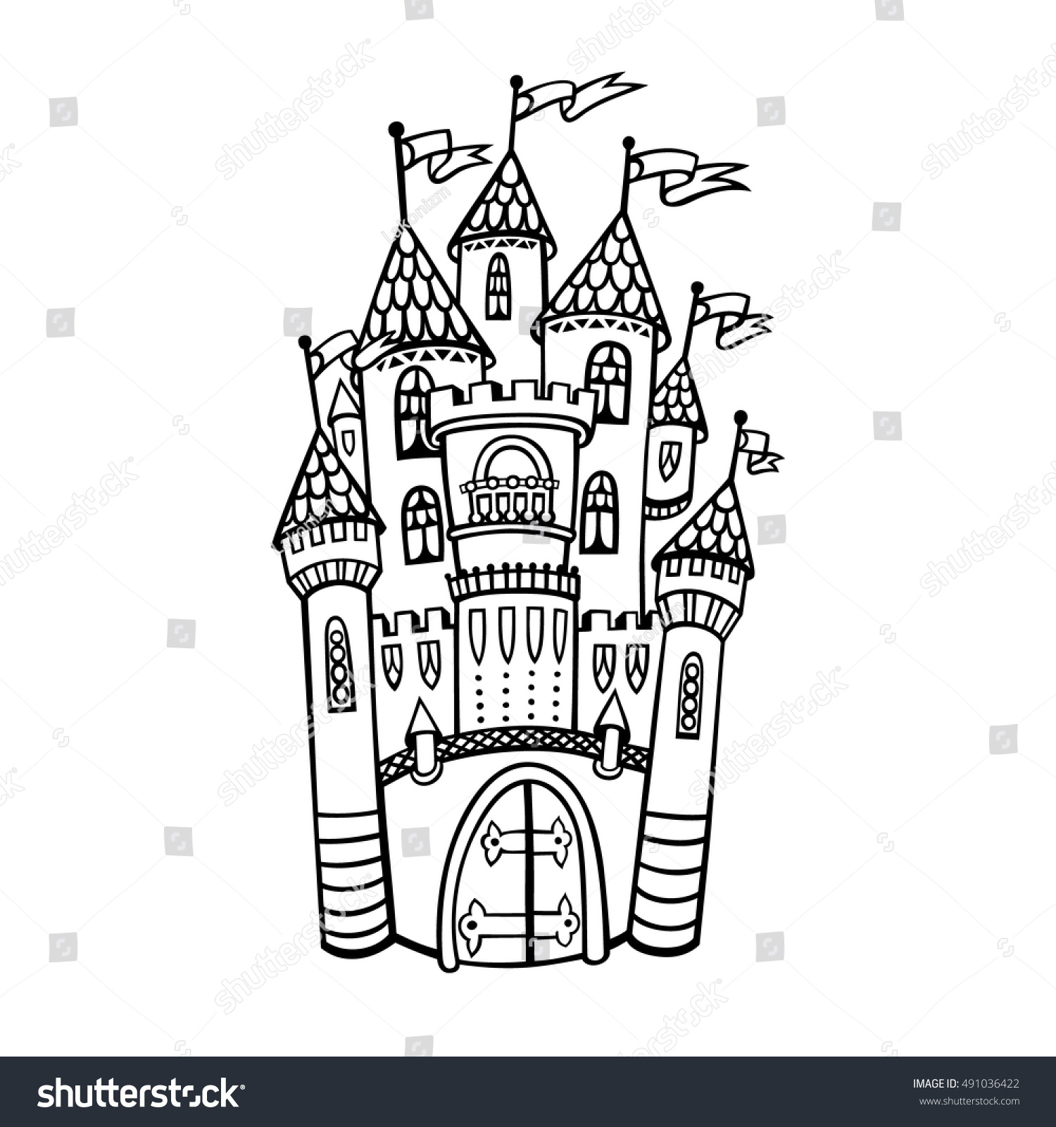 Castle illustration vector isolated drawing medieval stock vector castle illustration vector isolated drawing medieval stock vector 491036422 shutterstock stopboris Choice Image