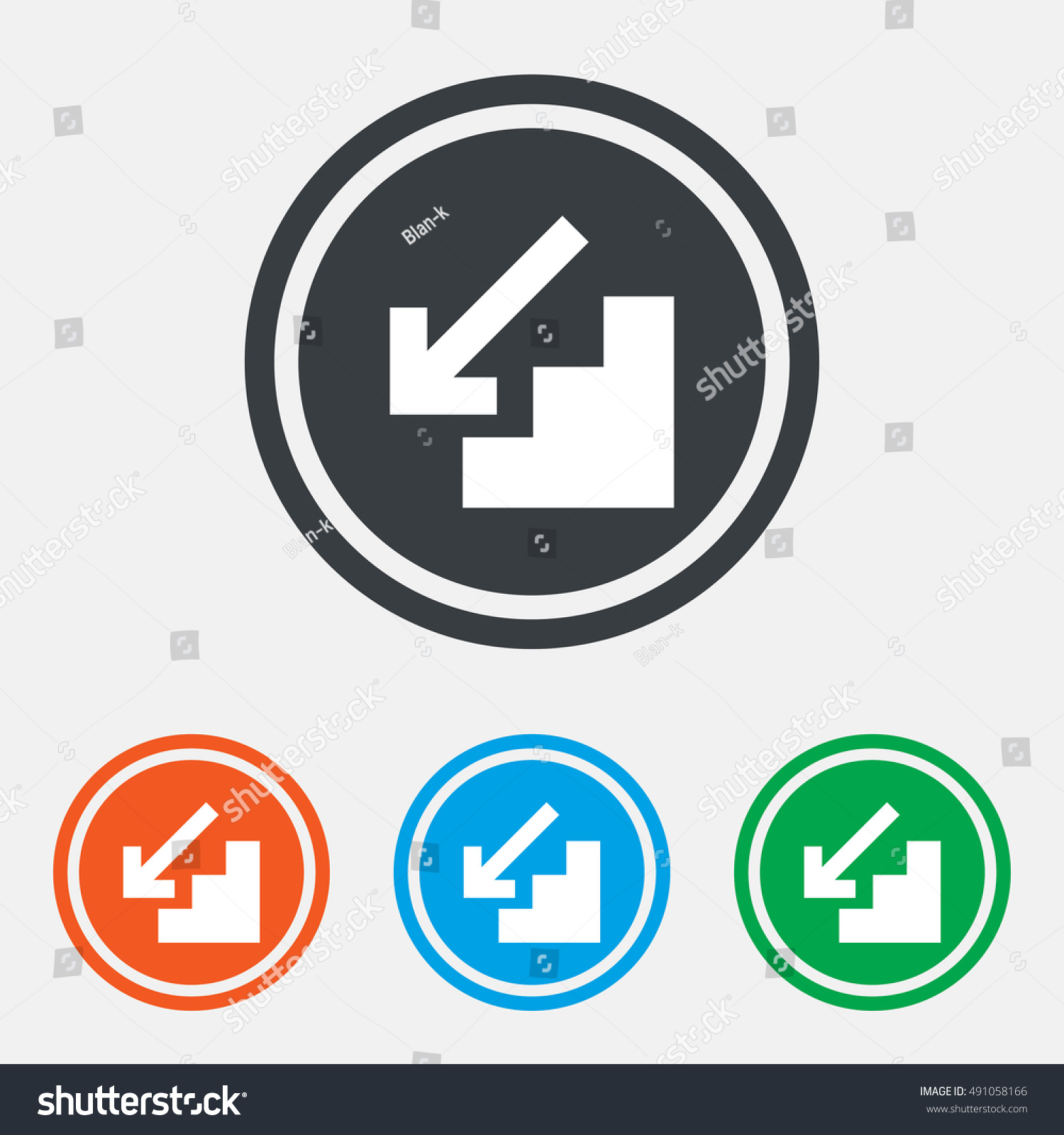 Downstairs icon down arrow sign graphic stock vector 491058166 down arrow sign graphic design web element flat downstairs symbol on biocorpaavc Choice Image