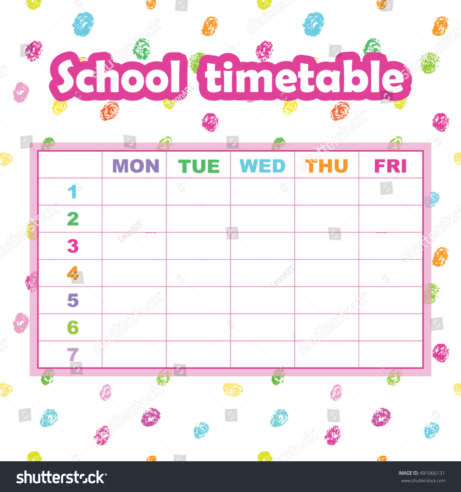 Timetable Template School credit note sample template full resume – School Time Table Designs