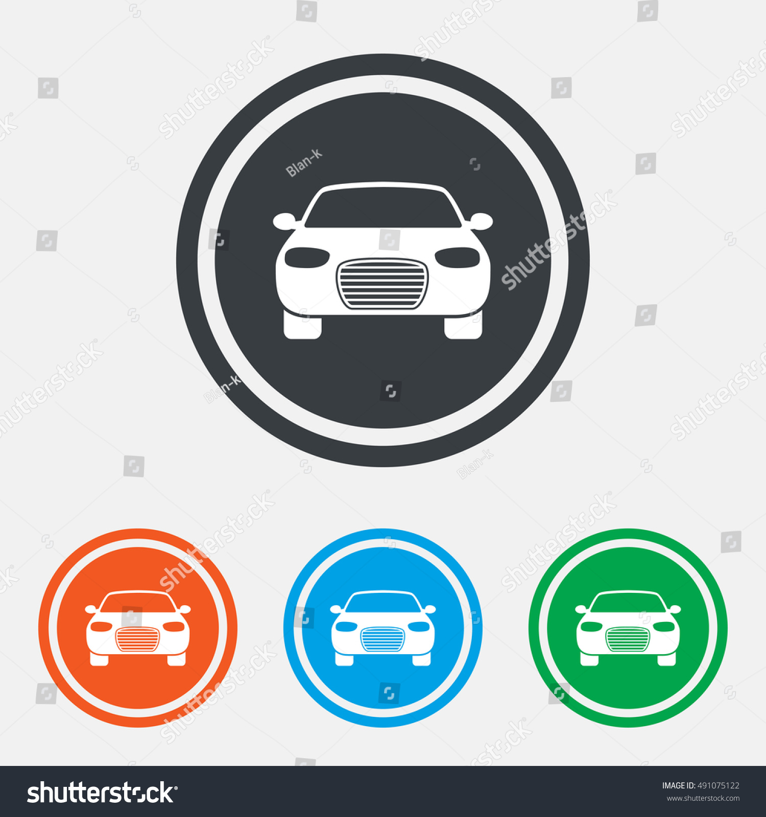 Car Sign Icon Delivery Transport Symbol Stock Vector Royalty Free