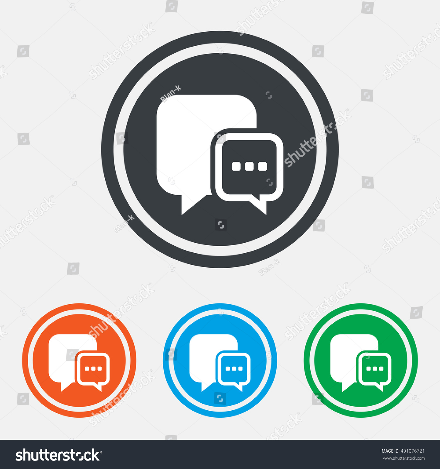 Chat sign icon speech bubble three stock vector 491076721 speech bubble with three dots symbol communication chat bubble graphic biocorpaavc