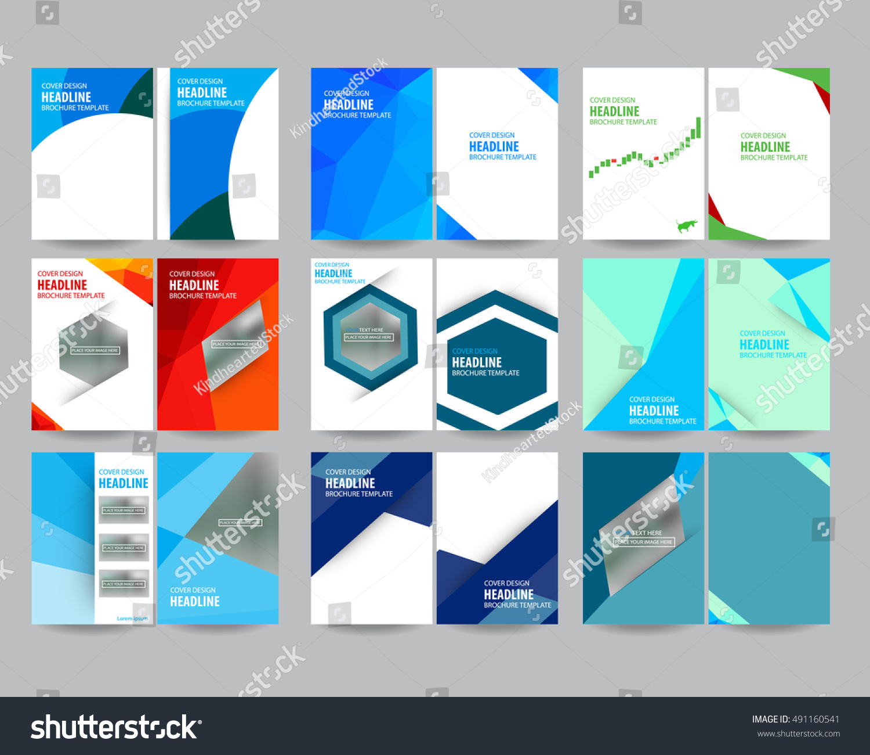 mega set technology annual report brochure stock vector royalty