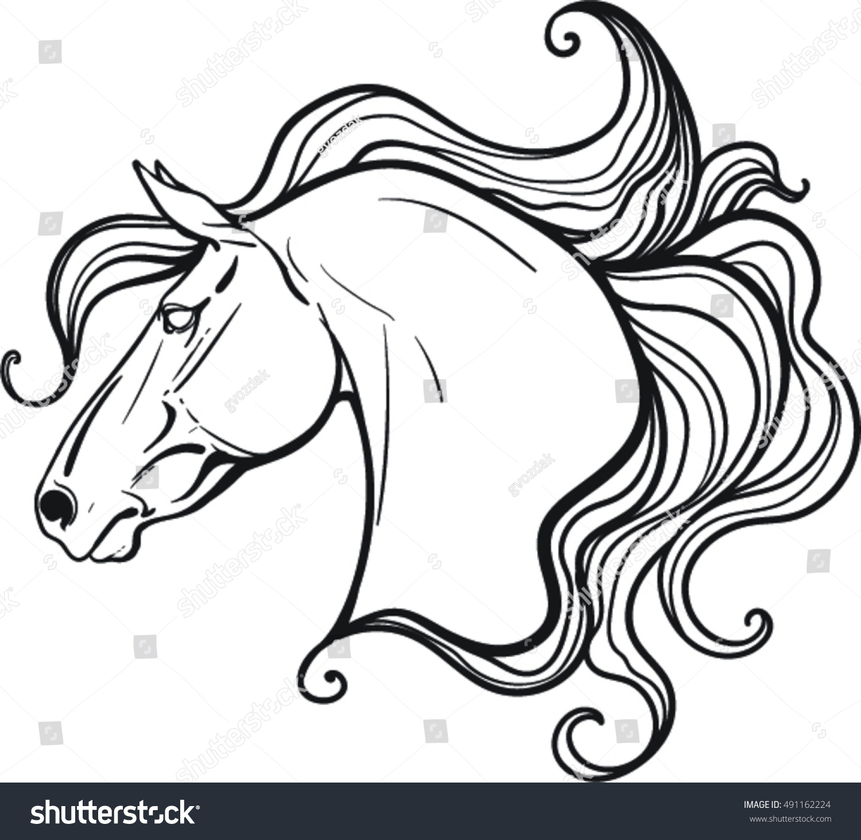 Coloring book horses - Coloring Book Horse