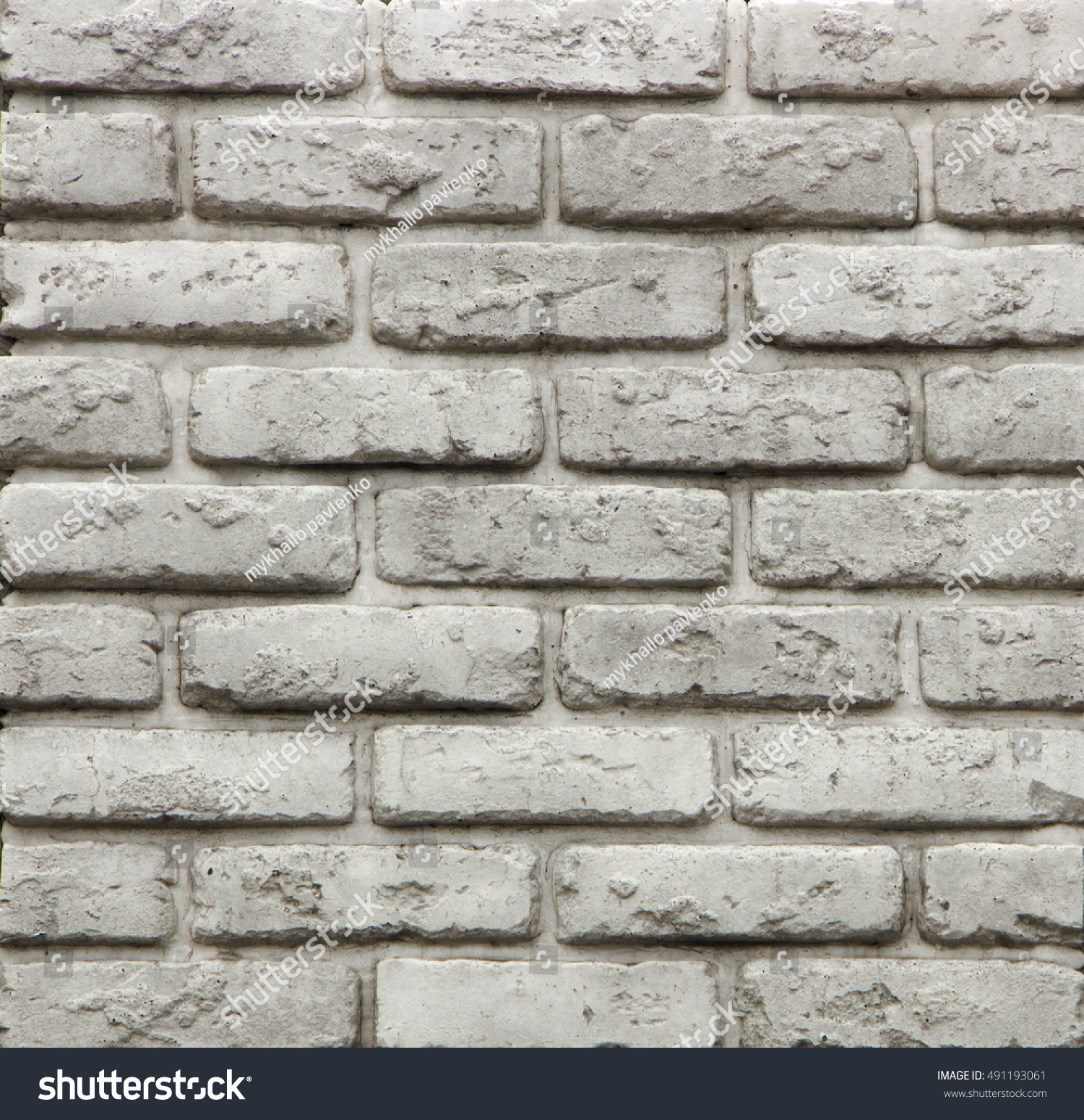Concrete Wall Tiles Form Decorative Bricks Stock Photo (Edit