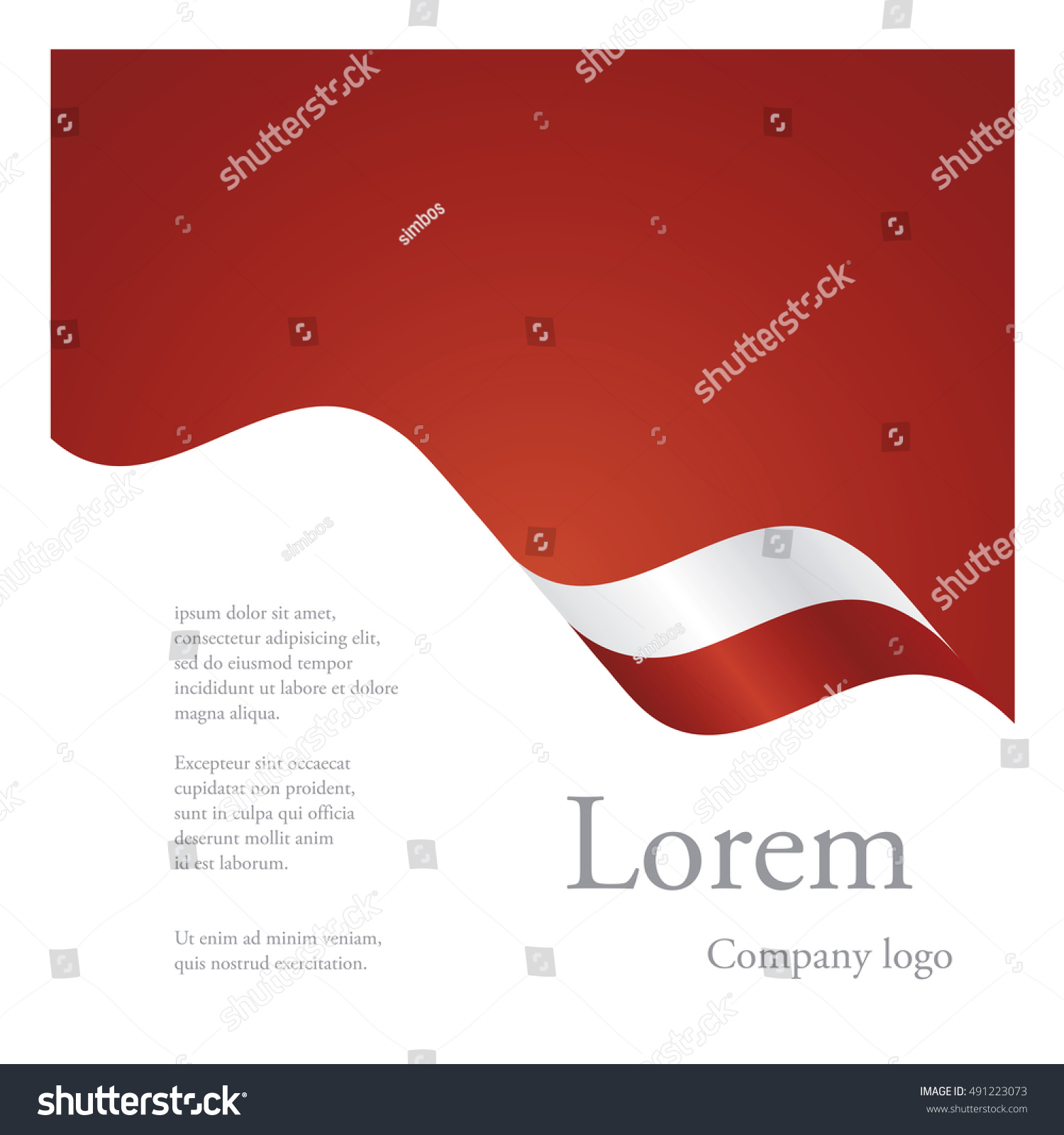 new brochure abstract design modular single stock vector 491223073