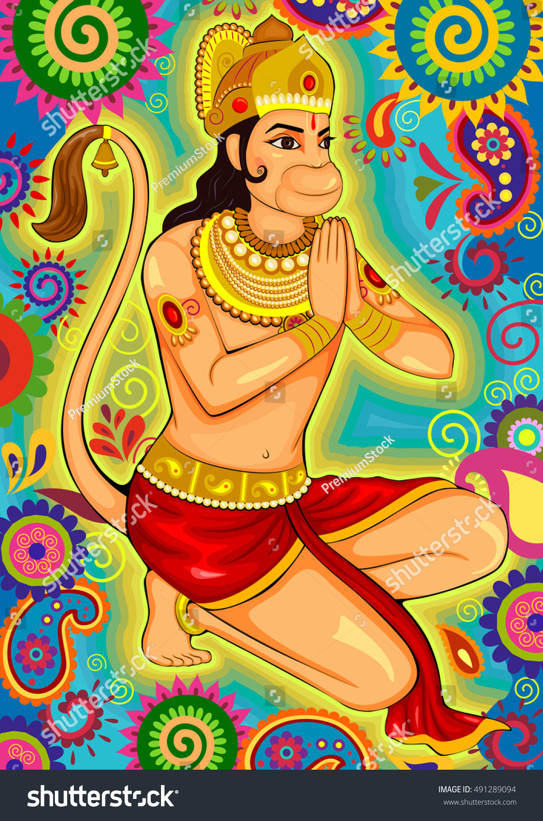 Character Design Hanuman : Vector design indian lord hanuman dussehra stock