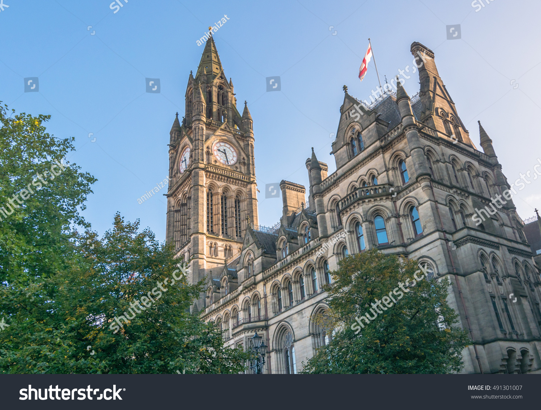 Manchester Town Hall Albert Square Manchester Foto de stock (editar ...