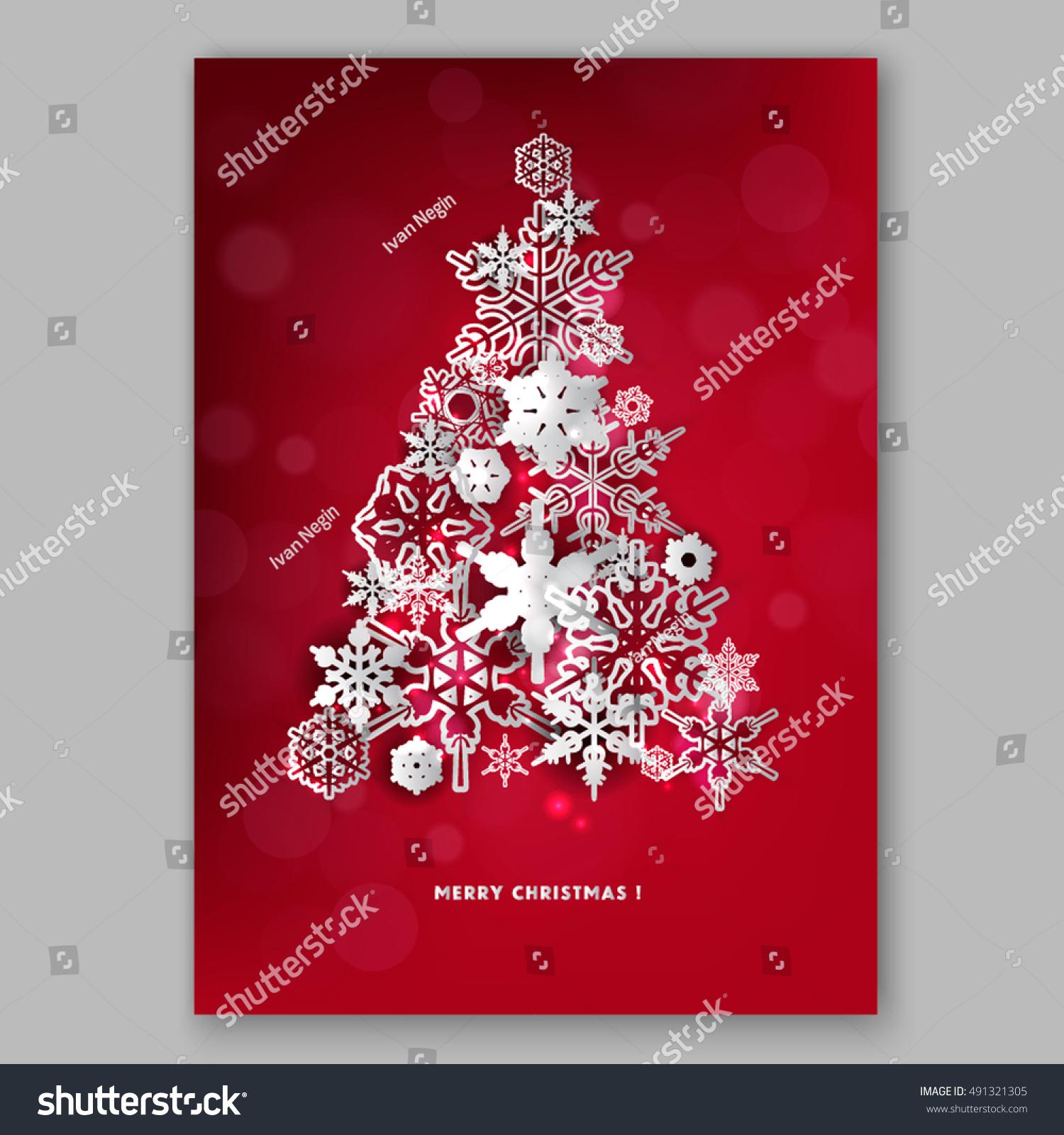 Merry Christmas Party Invitation Happy New Stock Vector 491321305 ...
