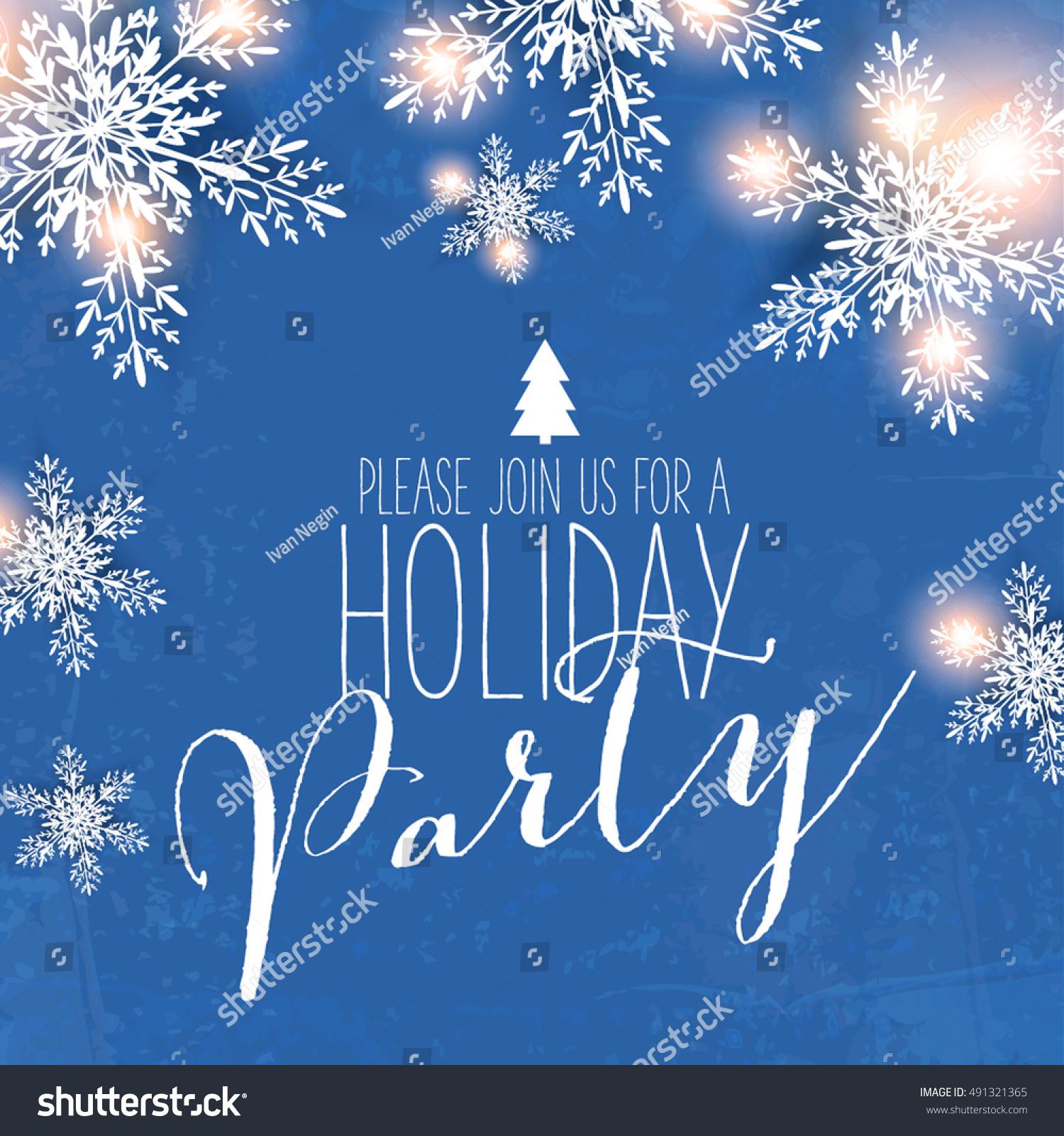 Merry Christmas Party Invitation Happy New Stock Vector 491321365 ...