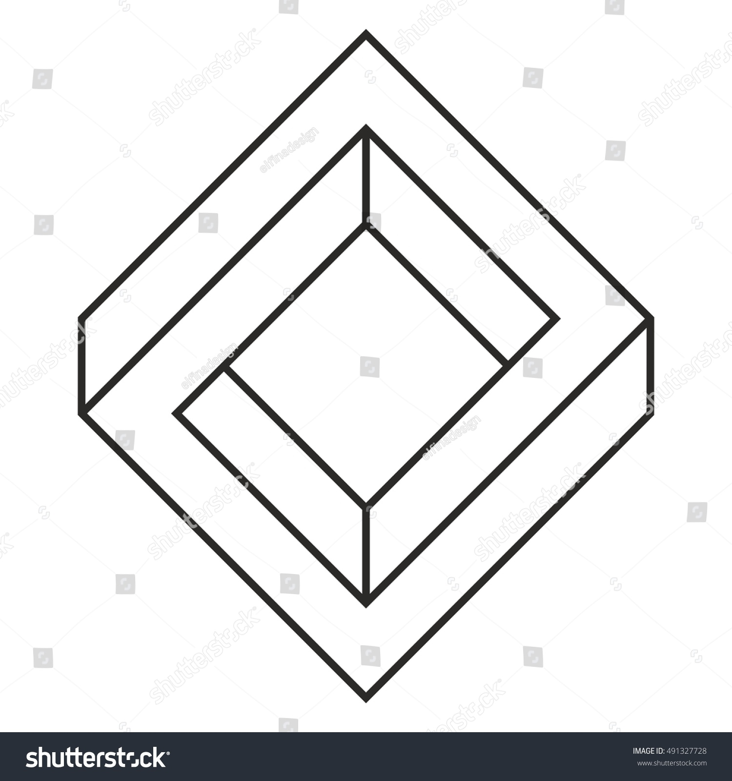 Penrose square impossible square optical illusion stock vector penrose square impossible square optical illusion pooptronica