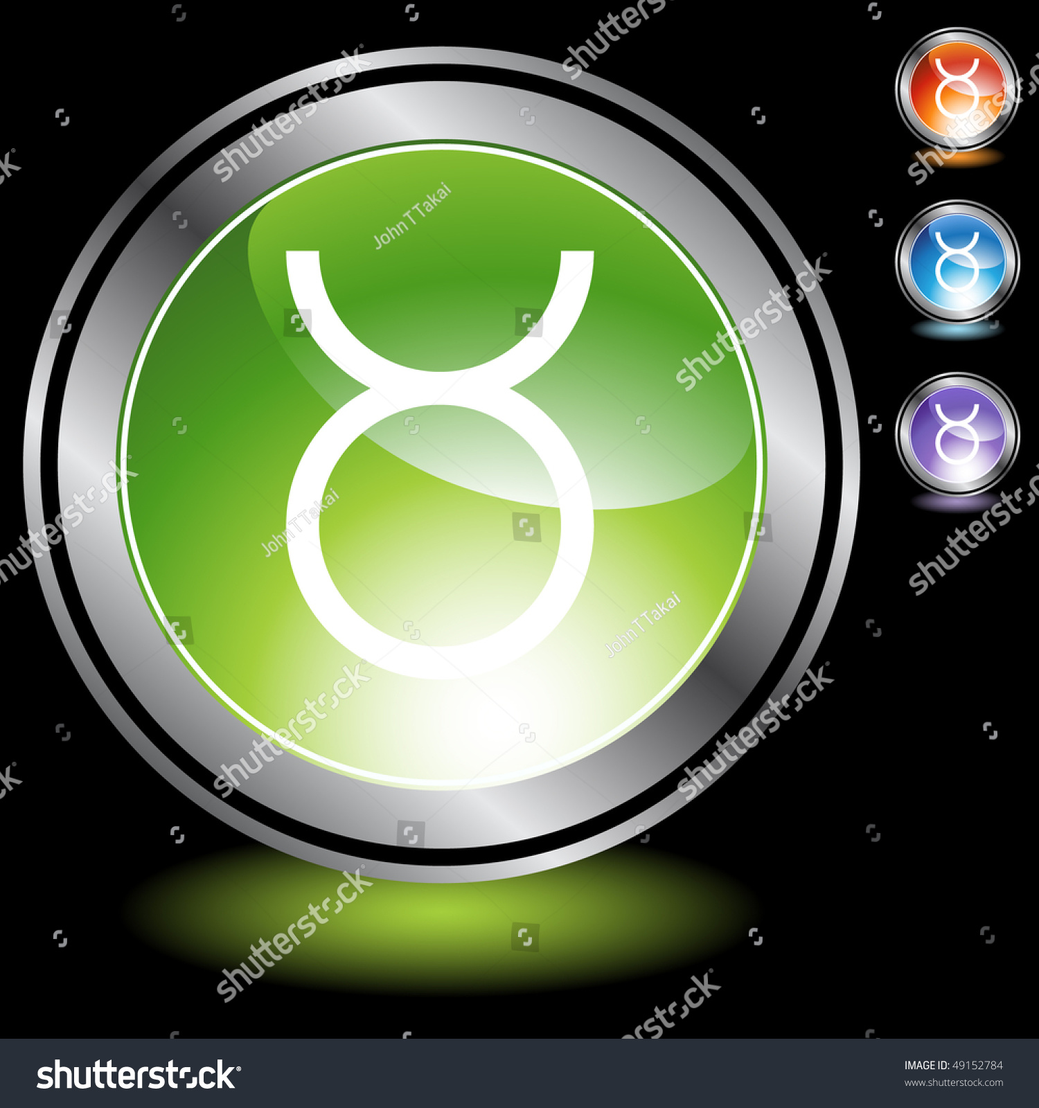 Taurus Zodiac Symbol Stock Vector 49152784 Shutterstock