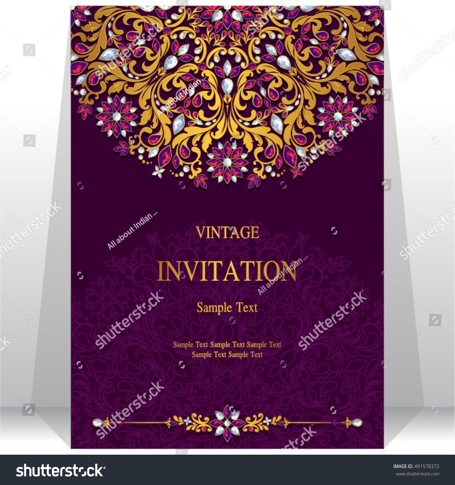 Wedding invitation card abstract background stock vector 491578372 wedding invitation or card with abstract background monicamarmolfo Choice Image