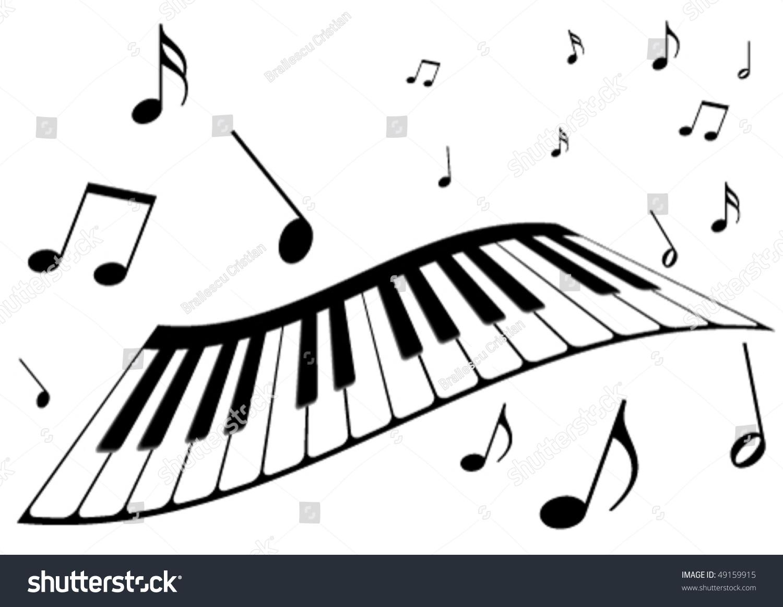 illustration piano music notes stock vector 49159915 shutterstock